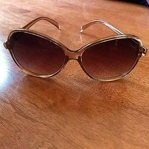 H&M Sunglasses Brown Gold EUC